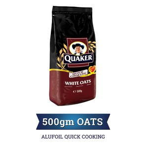 Quaker Alufoil Quick Cooking White Oats 500g
