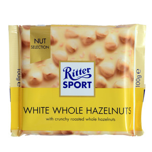 Ritter Sport White Whole Hazelnut Chocolate 100g