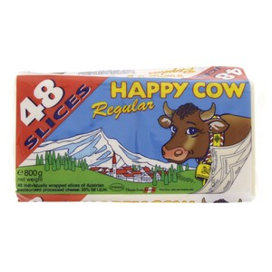 Happy Cow Regular Processed Cheese 800g