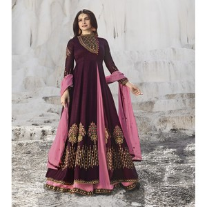Semi Stitched Women's Gown Suit Vinay Kaseesh Supreme 8527