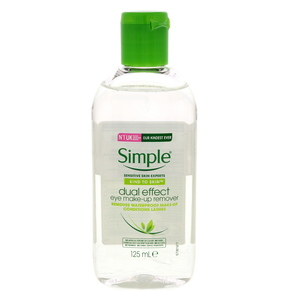 Simple Dual Effect Eye Makeup Remover 125ml