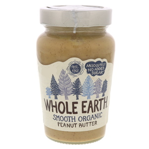 Whole Earth Smooth Organic Peanut Butter 340g