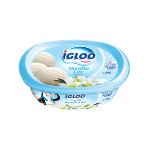 Igloo Vanilla Lite Ice Cream 1Litre
