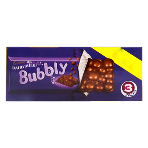 Cadburys Dairy Milk Bubbly Milk Chocolate 3 x 87g