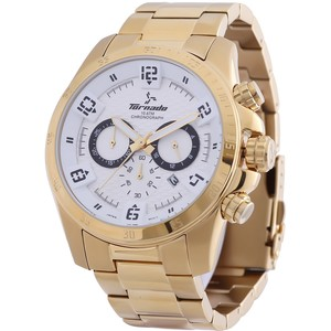 Tornado Men's Chronograph Watch White Dial T3149-GBGWB