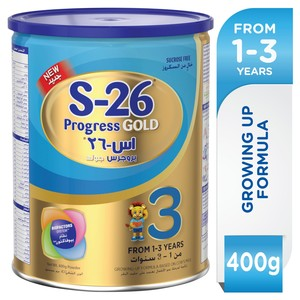Wyeth S26® Progress Gold Stage 3 With Biofactors System Premium Milk Powder For Toddlers 400g