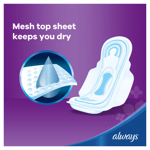 Always Mesh Maxi Thick Large Sanitary Pads 30 Count