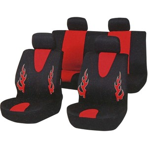 Automate Seat Cover Set Black with Red YHA3533 8pcs