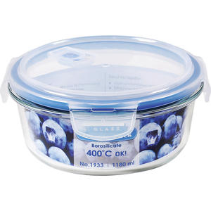 JCJ Double Lock Glass Container 1080ml