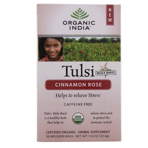 Organic India Tulsi Cinnamon Rose Tea  18 Infusion Bags