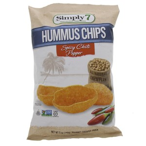 Simply 7 Hummous Chips Spicy Chili Pepper  142g