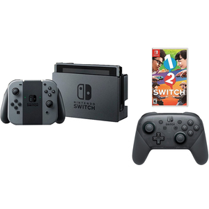 Nintendo Switch Console Wireless Joy?Con Grey +1 Game