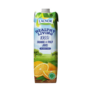 Lacnor Healthy Living Orange Juice with Pulp 1Litre