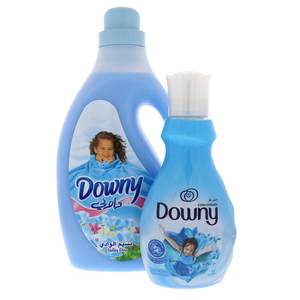 Downy Valley Dew Fabric Softener 3Litre + Concentrate Vally Dew 1Litre
