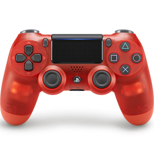 Sony DualShock 4 V2  Controller for PlayStation 4, Red Translucent