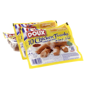 Doux Chicken Franks Regular 400 Gm x 3