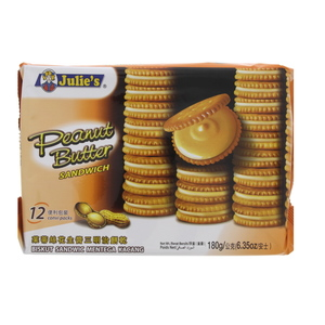 Julie's Peanut Butter Sandwich Biscuits 180g
