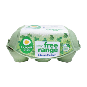 Golden Irish Free Range Eggs Large/Medium 6pcs