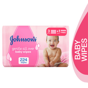 Johnson's Baby Wipes Gentle All Over 4 x 56pcs