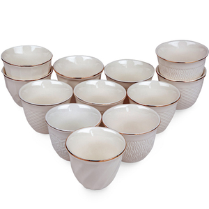 Pearl Noire Cawa Cups 12pcs 90CC Assorted Design