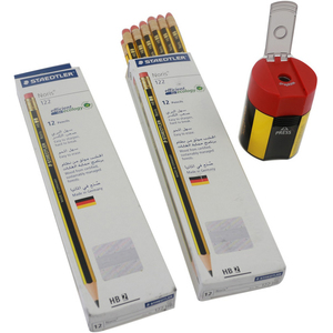 Staedtler Noris 122 HB2 Pencils 2x12's + Sharpener
