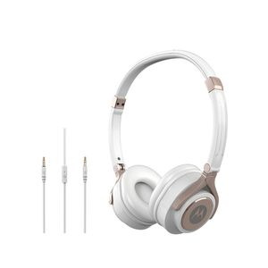 Motorola Pulse 2 Over Ear Wired Headphones With Mic White