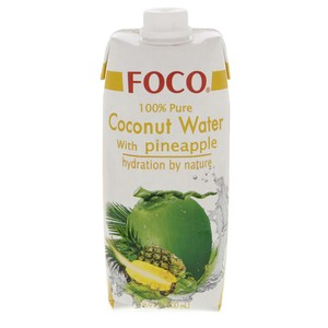 Foco 100% Pure Coconut Water with Pineapple 500ml