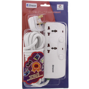 Sirocco Extension Cord 2Way 4Mtr