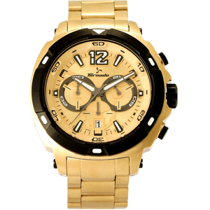 Tornado Men's Chronograph Watch Champagne Dial T6105-GBGC