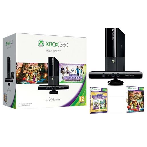 Buy Xbox 360 4GB With Kinect Sensor + Kinect Adventure +
