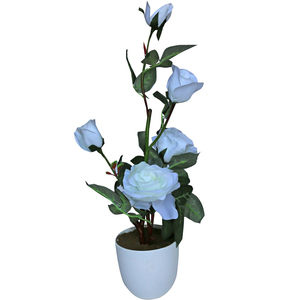 Home Style Artificial Bunch Flower With Pot