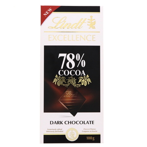 Lindt Excellence 78% Cocoa Dark Chocolate 100g
