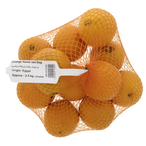 Orange Navel Net Bag 2.5 Kg Approx weight