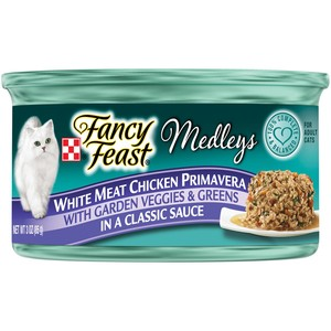 Purina Fancy Feast Medleys White Meat Chicken Primavera Wet Cat Food 85 Gm