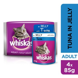 Whiskas® Tuna in Jelly, Pouch Multipack 85g x 4pack