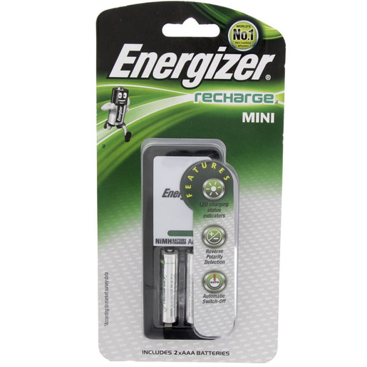 Energizer Mini Charger + Rechargeable AAA Battery CH2PC-900