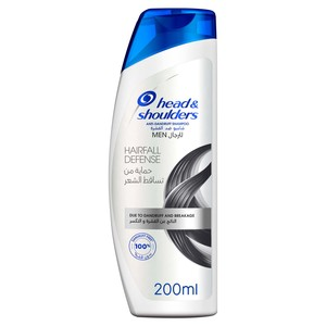 Head & Shoulders Hairfall Defense Anti-Dandruff Shampoo For Men 200ml