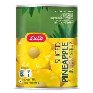 Lulu Sliced Pineapple In Light Syrup 850g