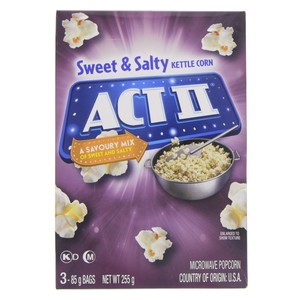 Act 2 Kettle Corn Microwave Popcorn 255g