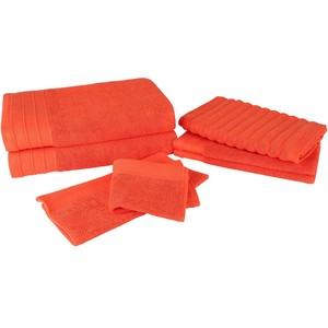 Creative Luxury Bath Towel 7pcs Set Orange