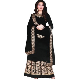 Women's Churidar Material Black