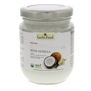 Earth's Finest Organic Extra Virgin RAW Coconut Oil with Vanilla 200ml