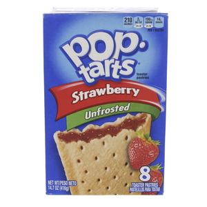 Pop Tarts Strawberry Unfrosted 416g