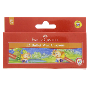Faber-Castell Bullet Wax Crayons 12 Pieces
