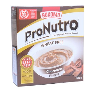 Bokomo ProNutro Chocolate Cereal Wheat Free 500g