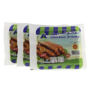 A'saffa Chicken Franks 3 x 340g