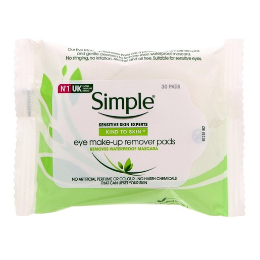 Simple Eye Makeup Remover Pads 30pcs