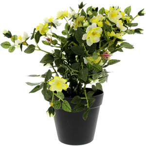 Home Style Artificial Flower With Pot Rose