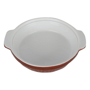 Pearl Noire Stoneware Flat Bake Bowl 8inch