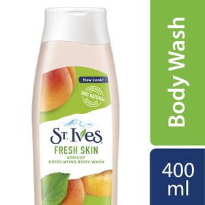 St. Ives Smooth And Glow Apricot Exfoliating Body Wash 400ml